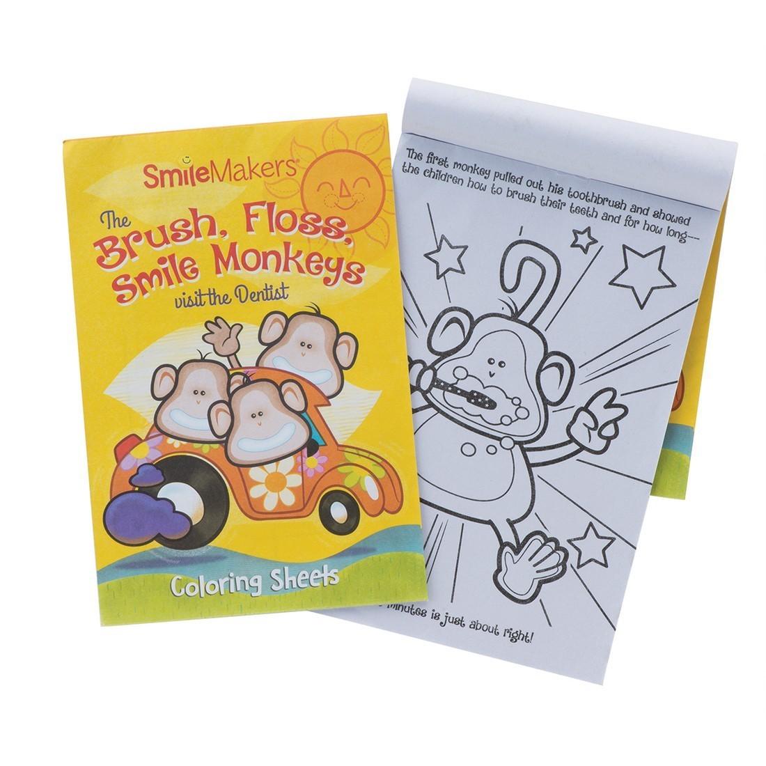 Brush, Floss, Smile Monkeys Coloring Books [image]