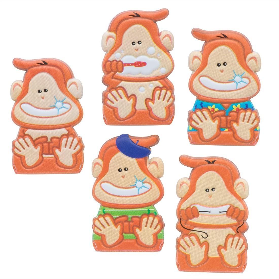 Brush, Floss, Smile Monkeys Puffy Finger Puppets [image]