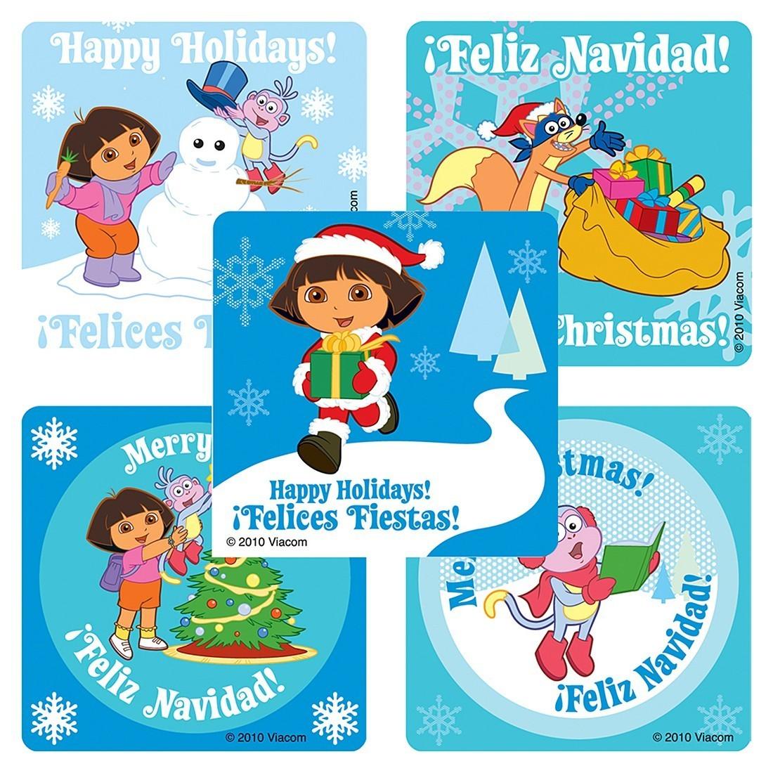 Dora the Explorer Christmas Stickers               [image]