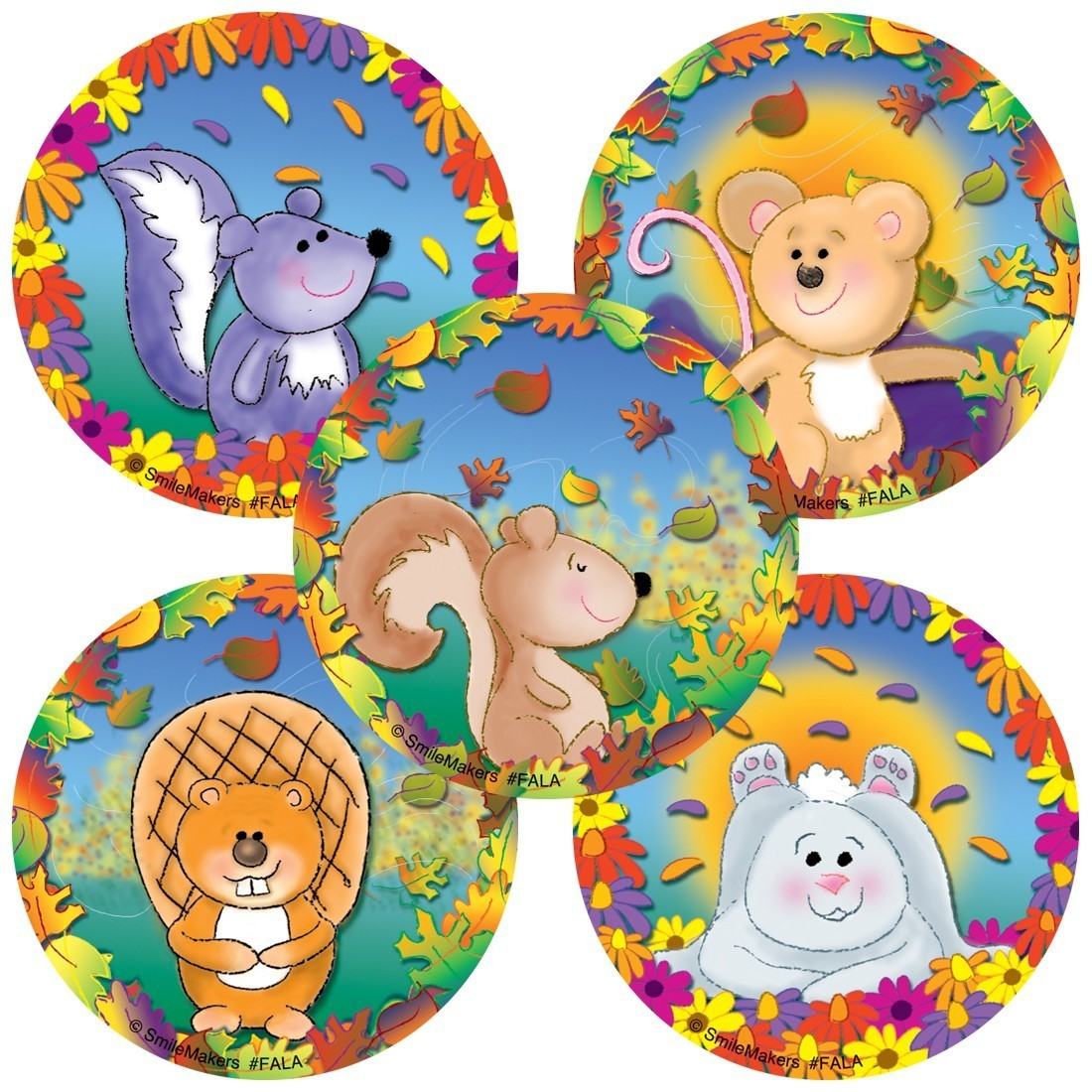 Assorted Fall Animals Stickers                     [image]