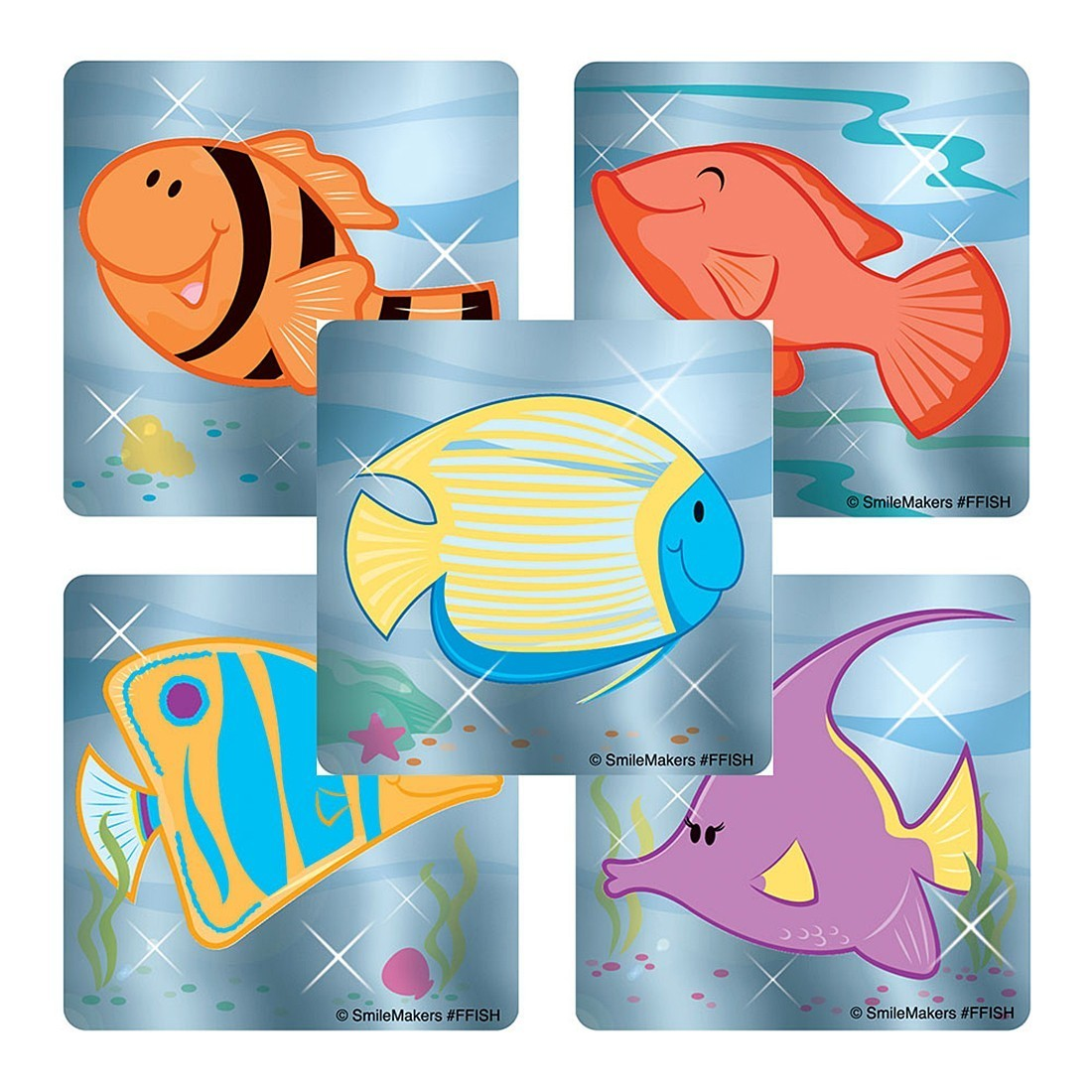 Foil Tropical Fish Stickers                        [image]