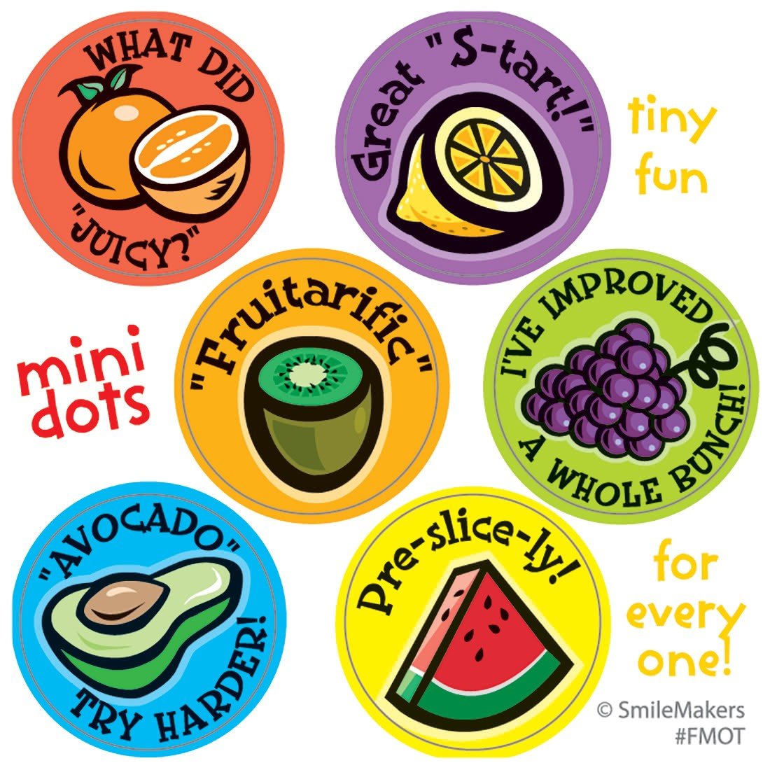 Scented Motivational Fruit Mini Stickers           [image]