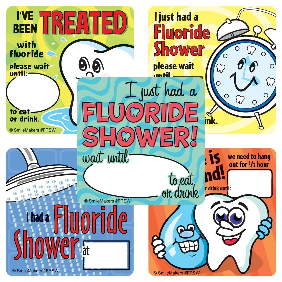 Fluoride Shower Stickers                           [image]