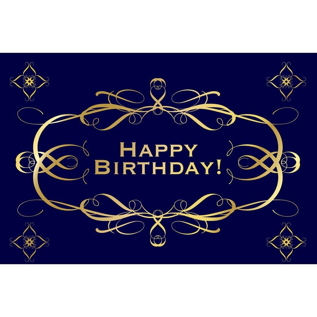 Black Gold Birthday Greeting Cards Standard Greeting Cards From