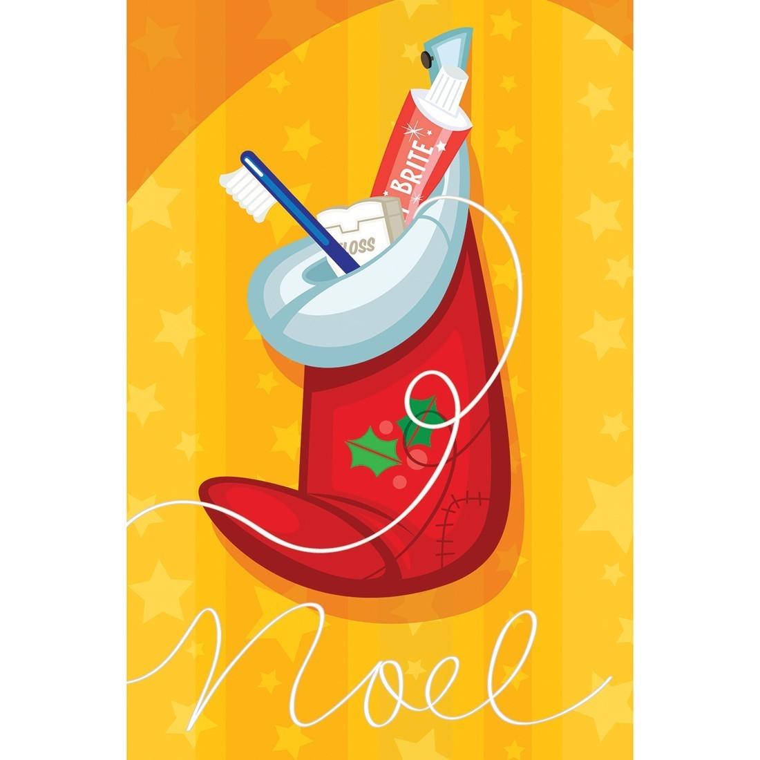 Dental Noel Stocking Greeting Cards [image]