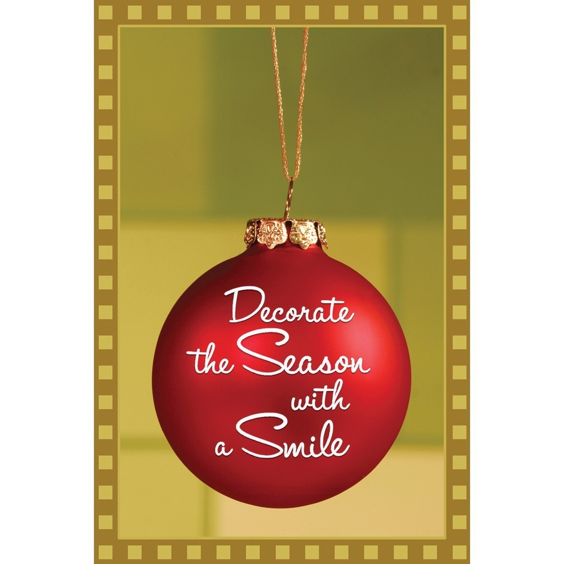Decorate the Season with a Smile Greeting Cards  [image]