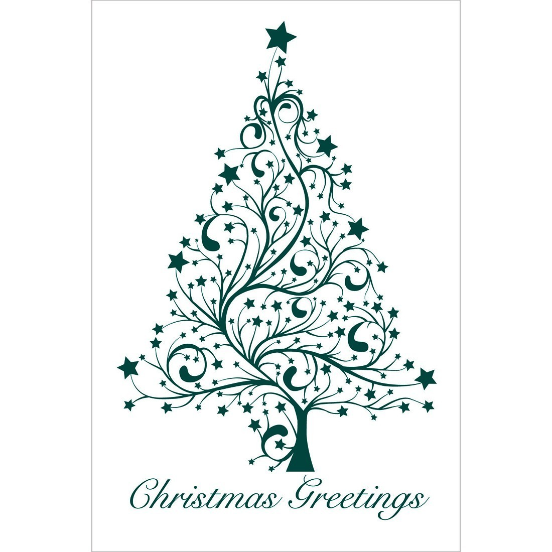 Christmas Greetings Tree Greeting Cards [image]