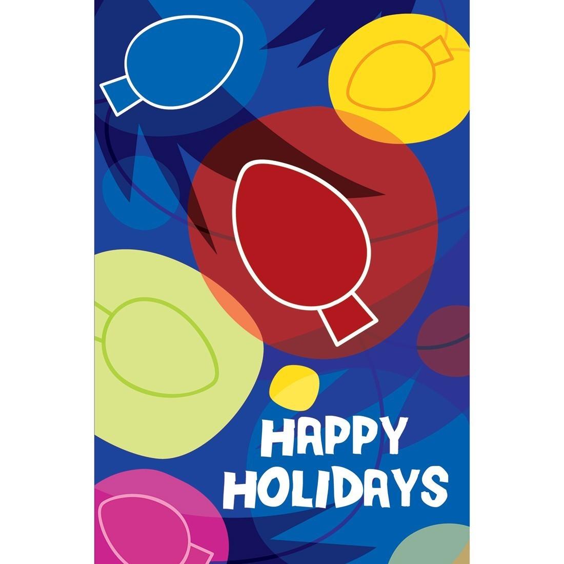Happy Holidays Festive Lights Greeting Cards [image]