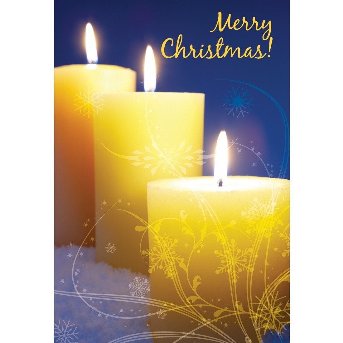 Merry Christmas Candles Greeting Cards [image]