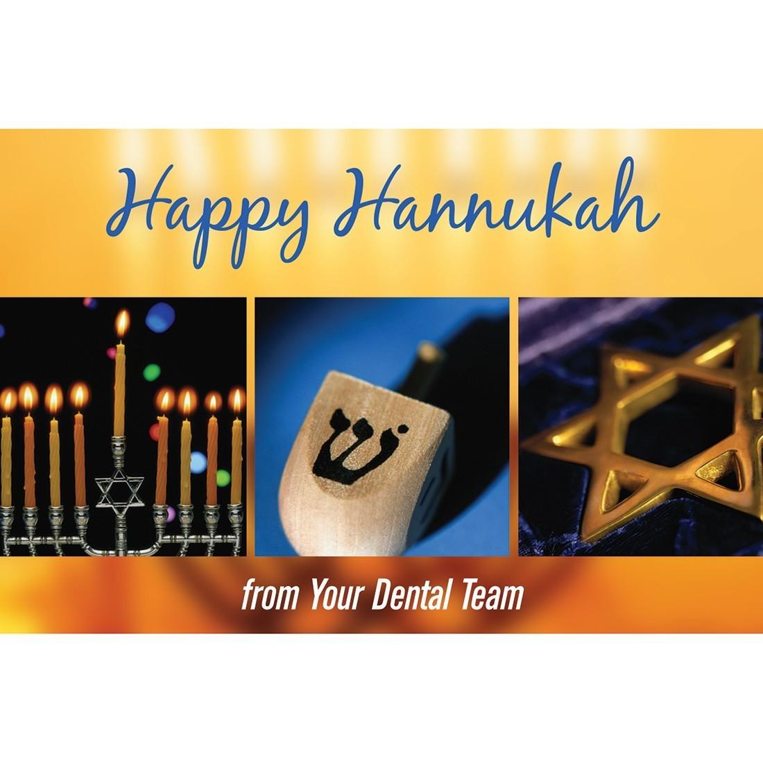 Happy Hanukkah Dental Team Greeting Cards [image]