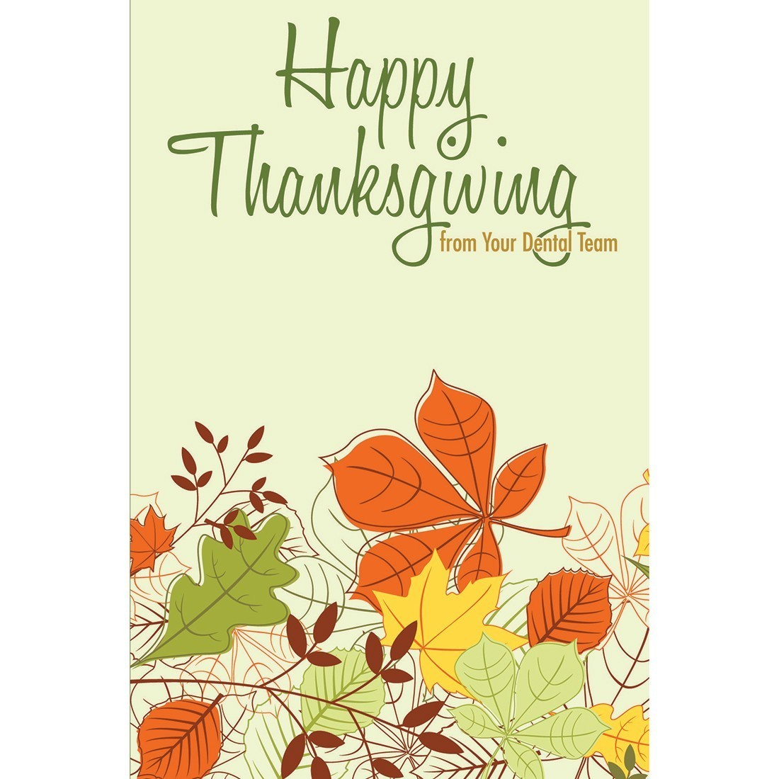 Happy Thanksgiving Dental Greeting Cards [image]