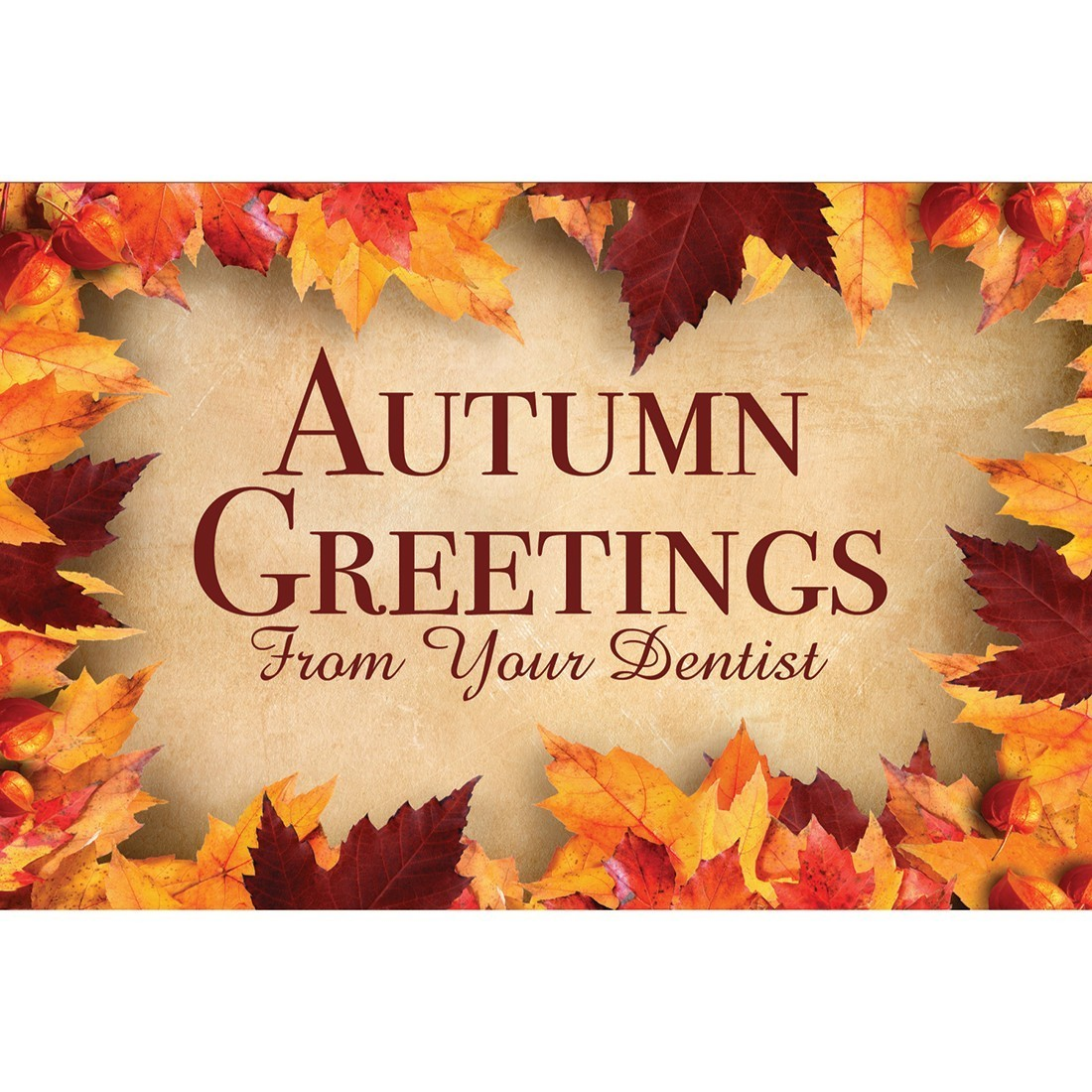 Autumn Greetings Dental Greeting Cards [image]