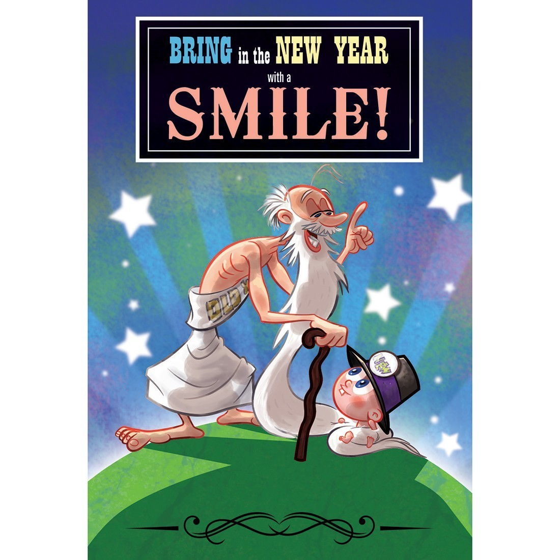 Bring New Year Smile Greeting Cards [image]