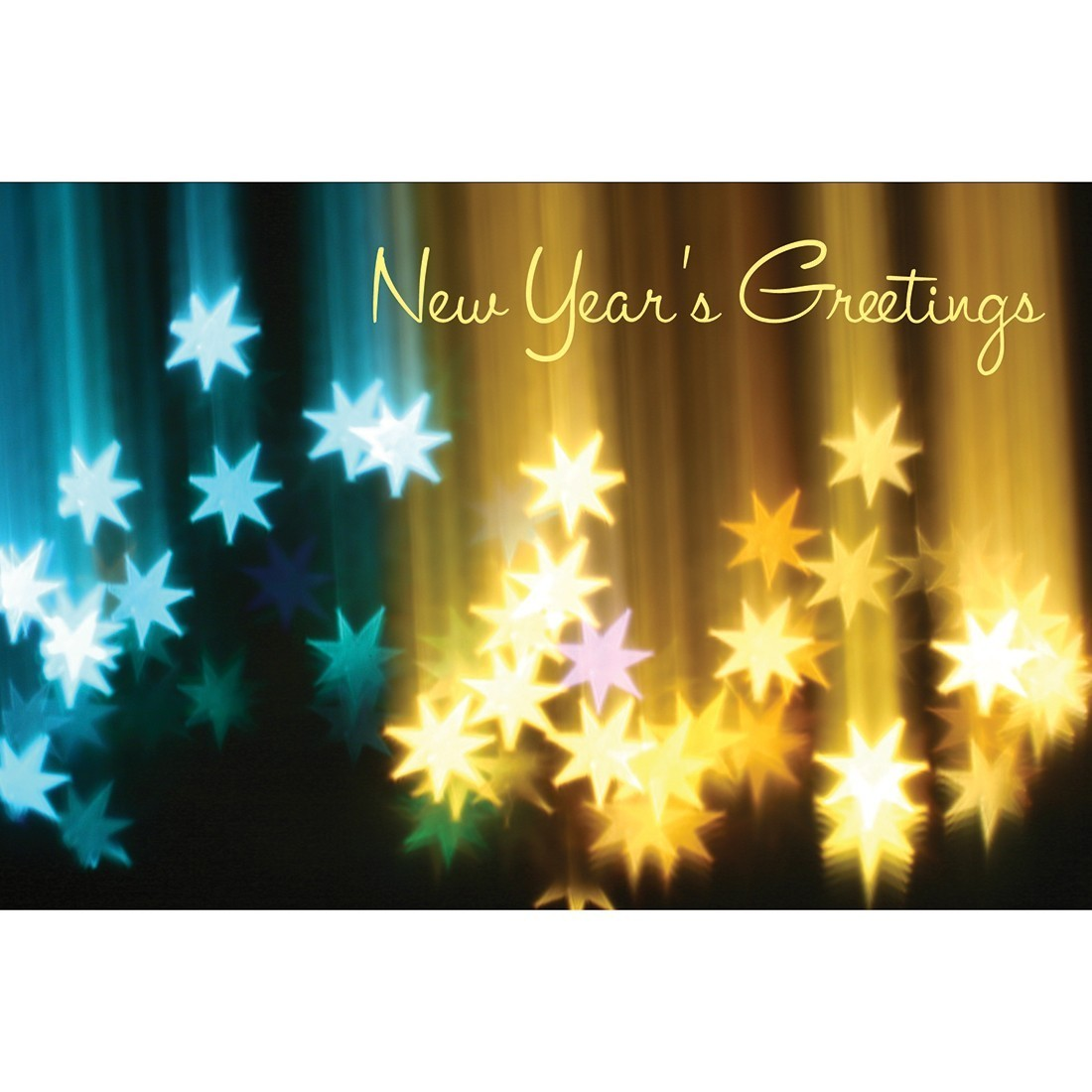 New Year Greetings Star Greeting Cards [image]