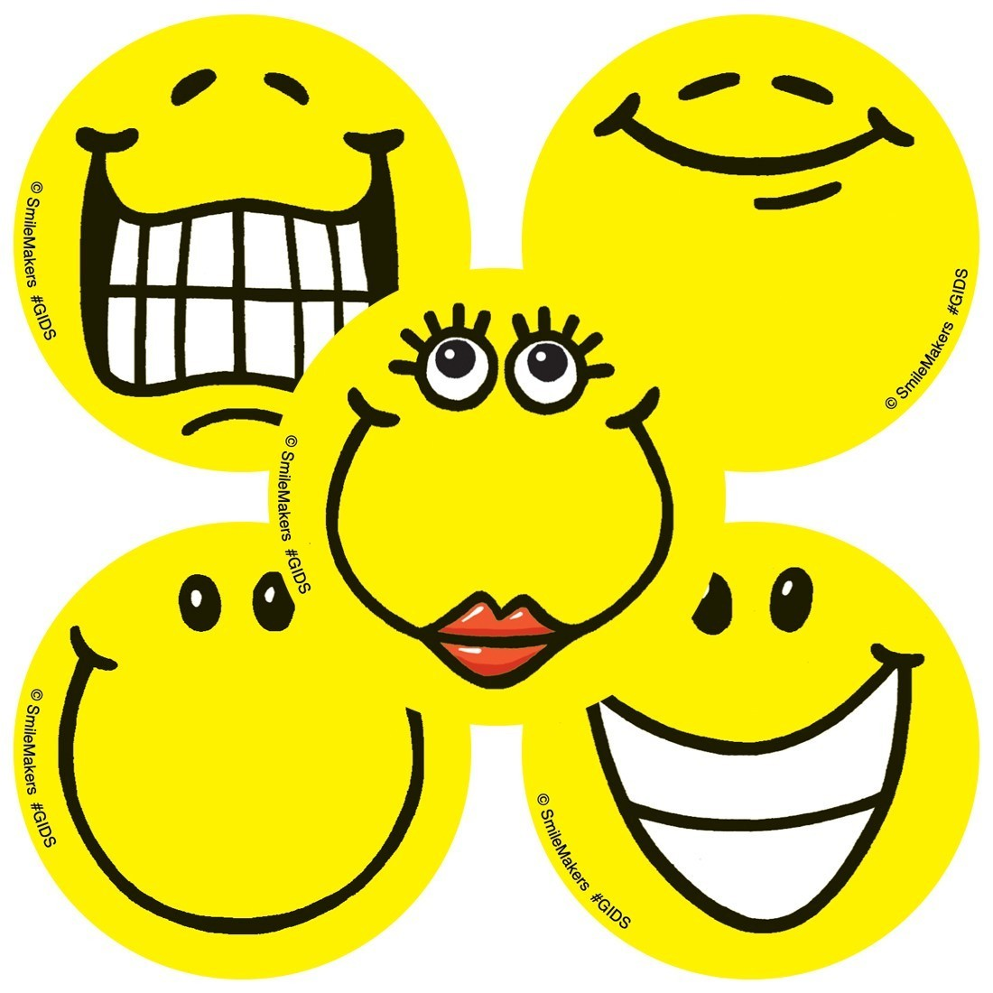 Glow in the Dark Smiley Face Stickers              [image]