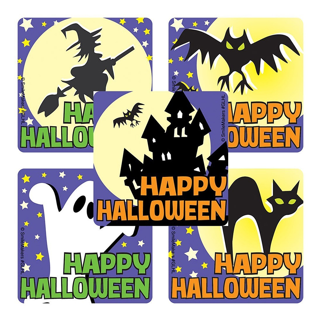 Image result for glow in the dark halloween stickers