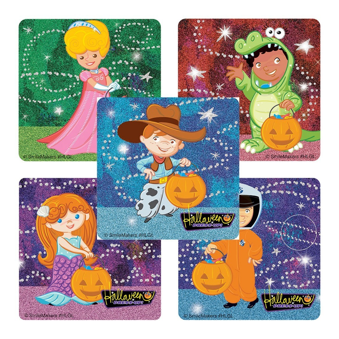 Halloween Glitter Stickers                         [image]