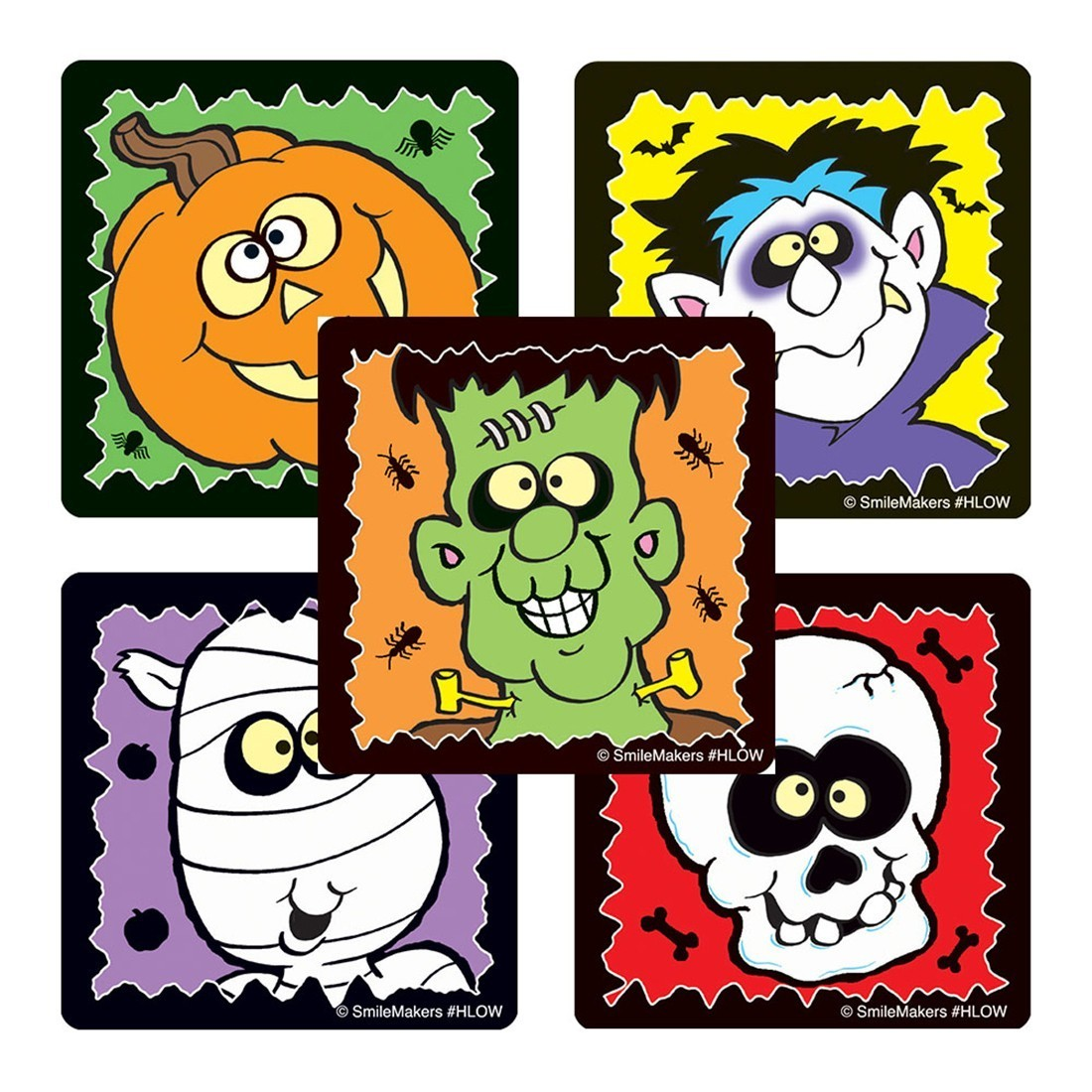Glow in the Dark Funny Monster Stickers            [image]