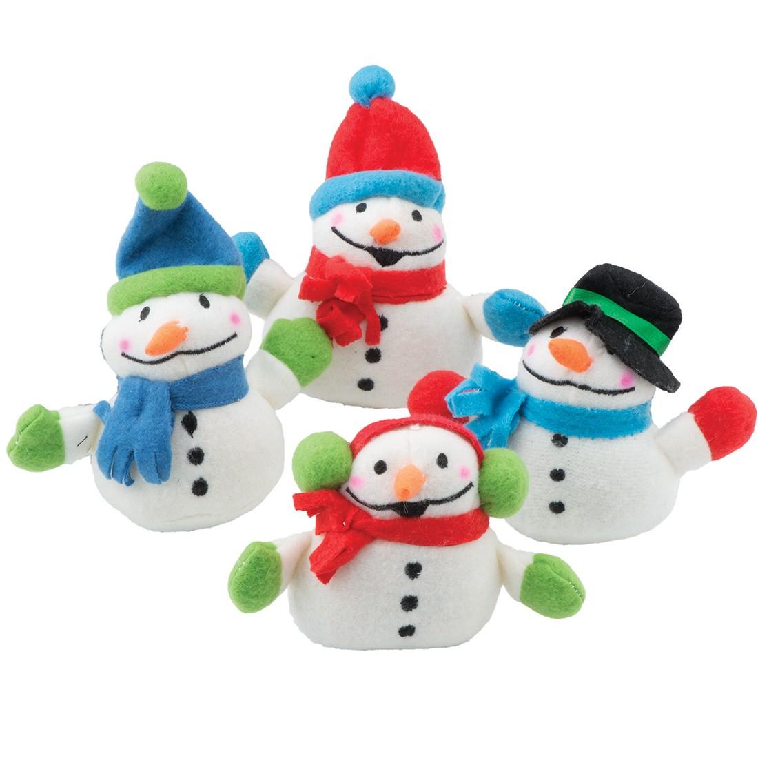 Plush Mini Bean Bag Snowmen [image]