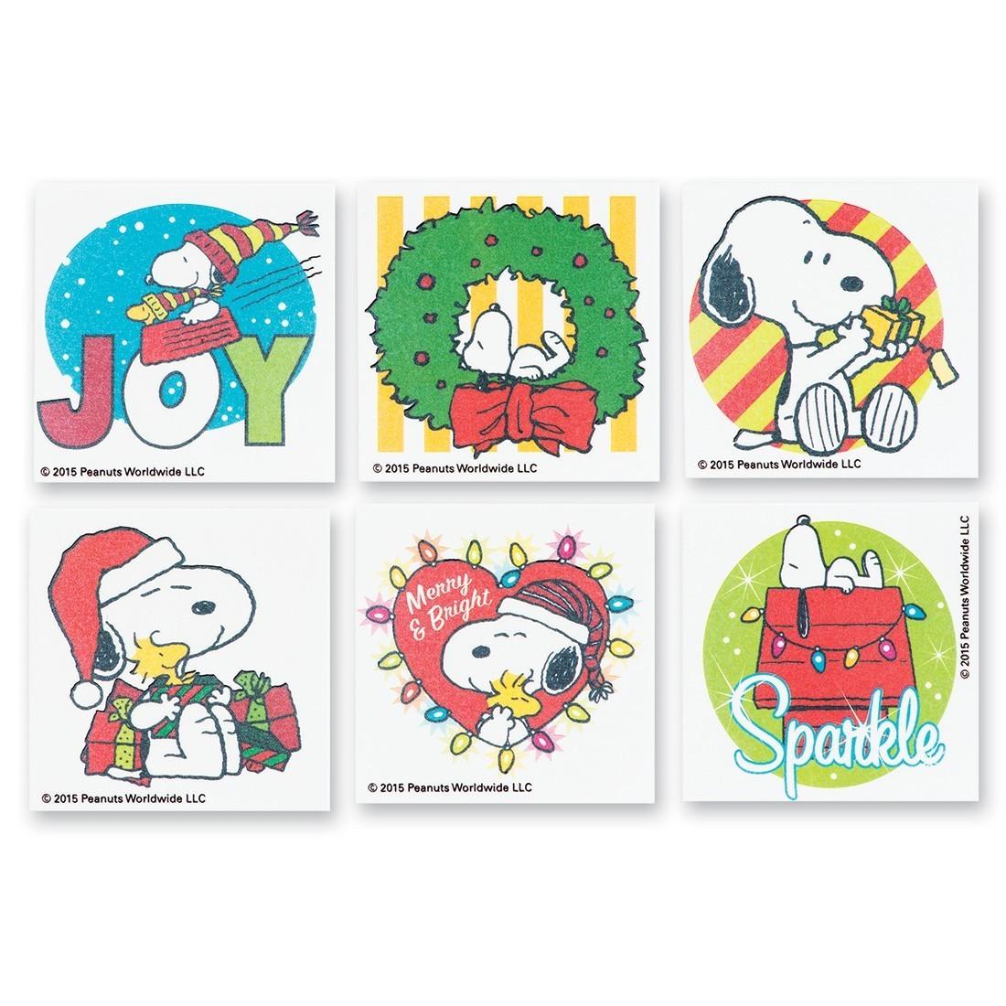 Peanuts® Christmas Temporary Tattoos [image]