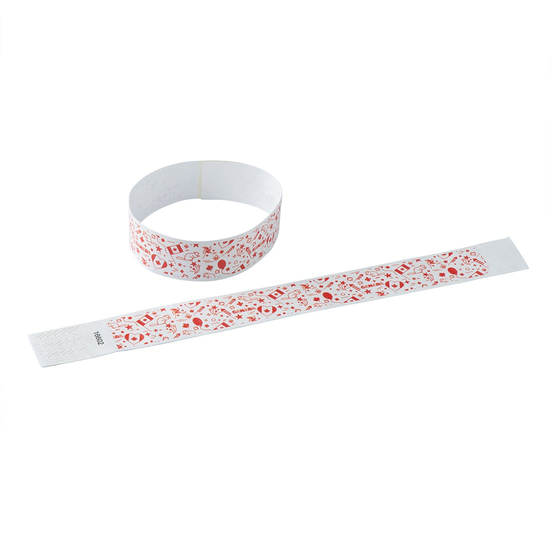 100 Canadian Celebration Adhesive Wristb [image]