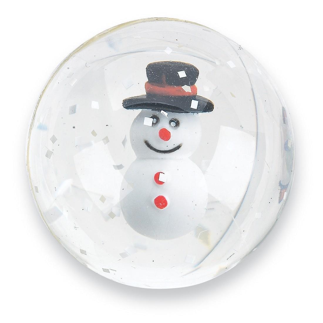 32mm Happy Snowman Bouncing Balls [image]