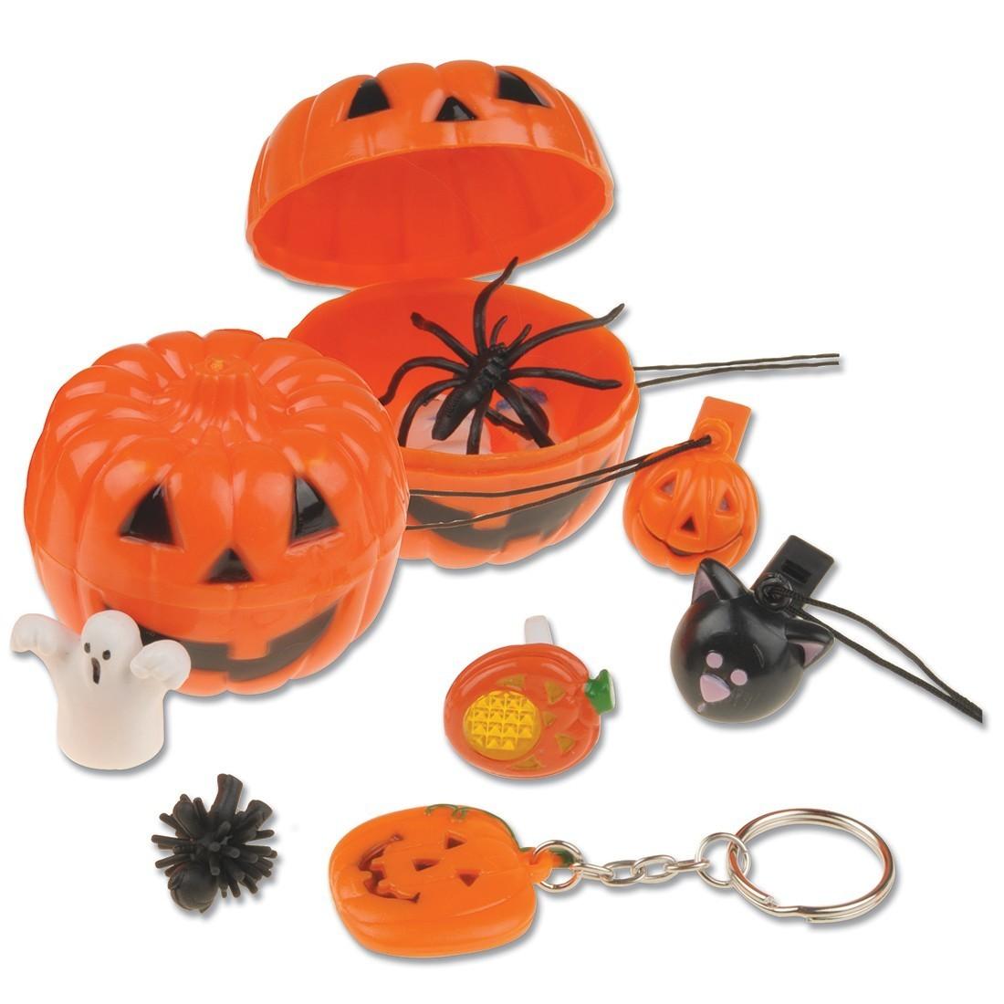 Toy Filled Jack-O-Lanterns [image]
