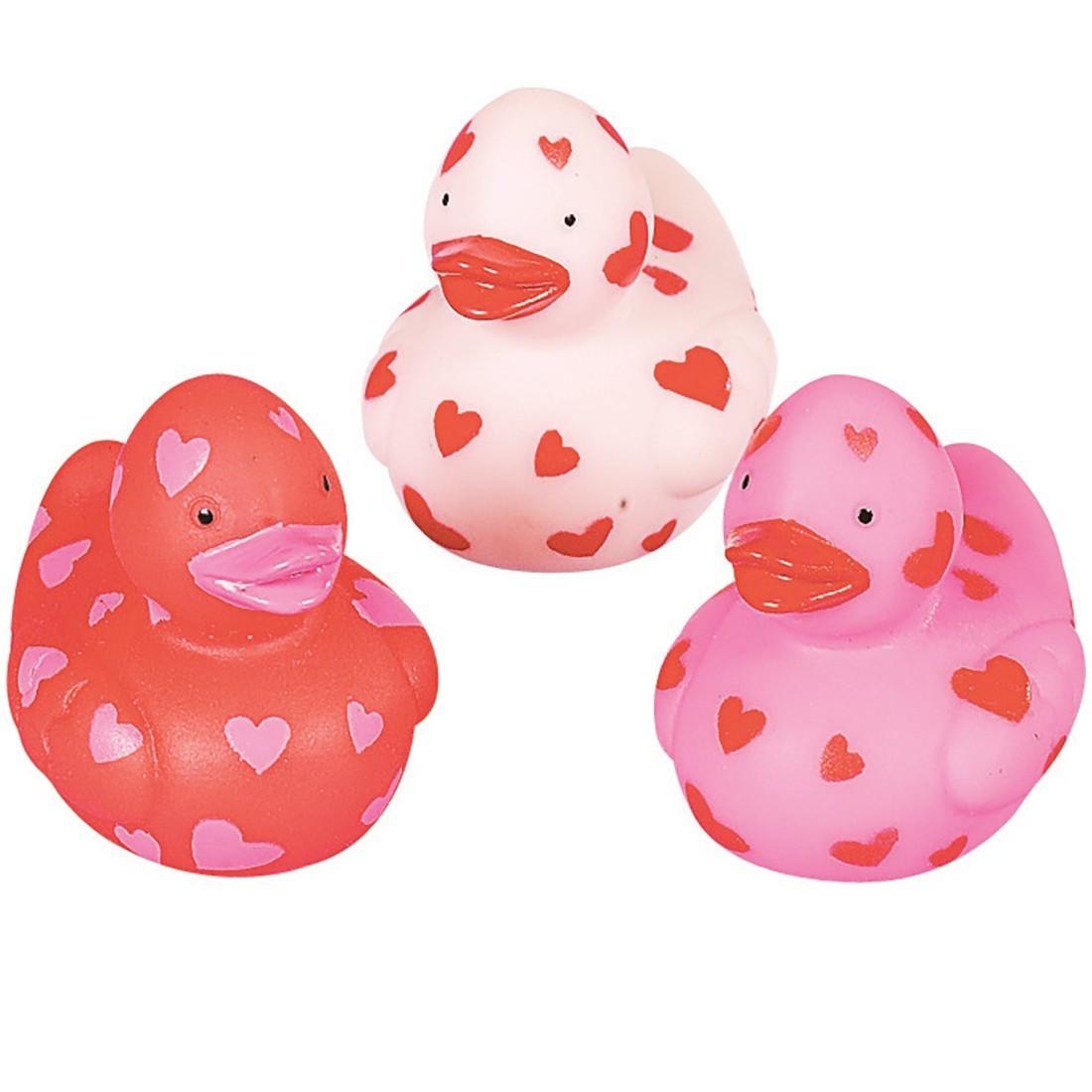 Valentine Heart Mini Rubber Ducks [image]
