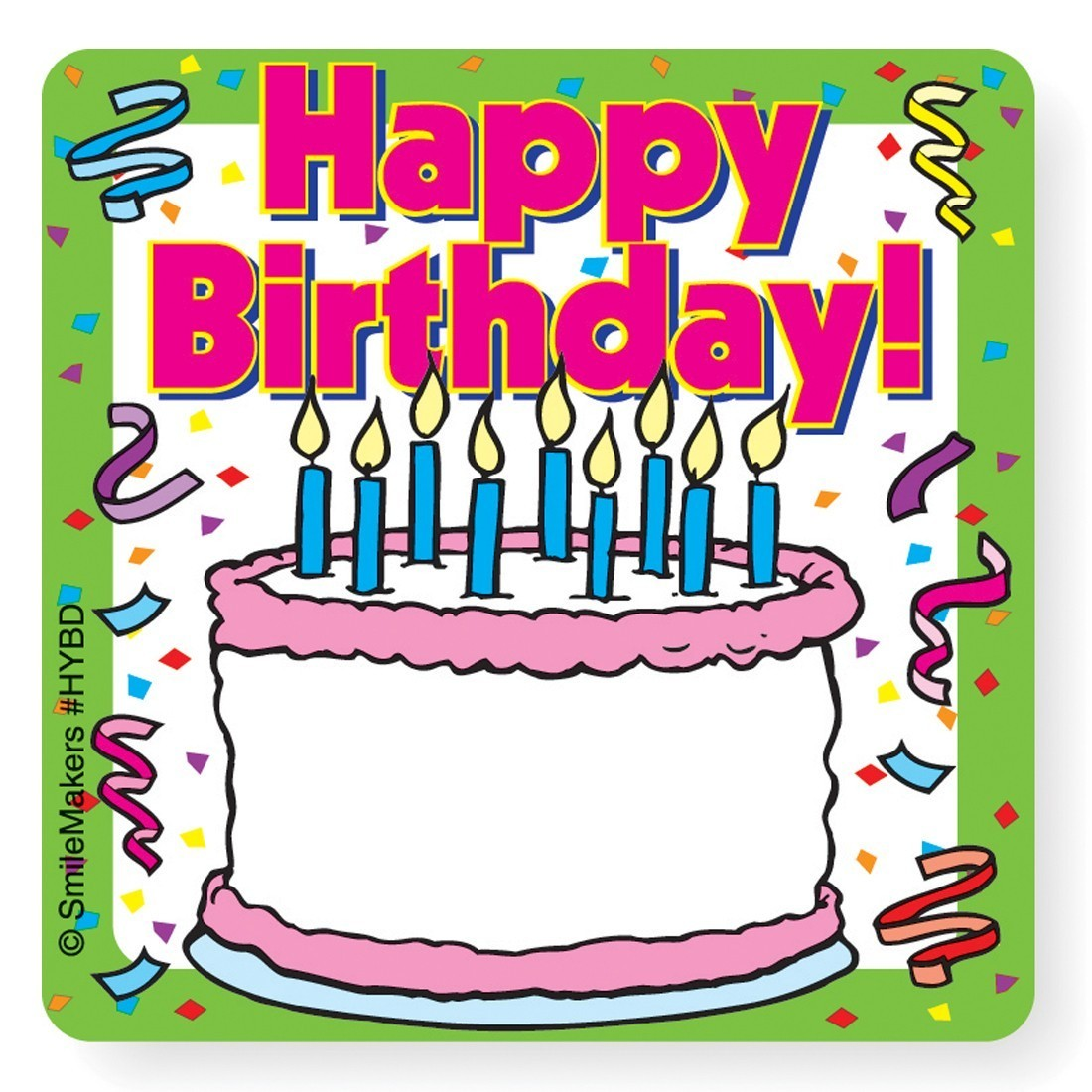 Happy birthday your name stickers image slider image 0