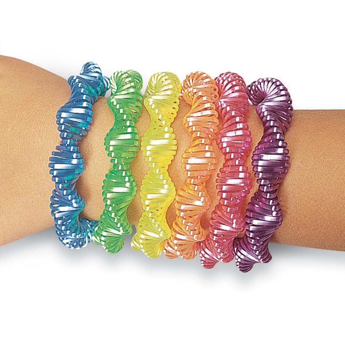 Neon Twist Coil Bracelets [image]