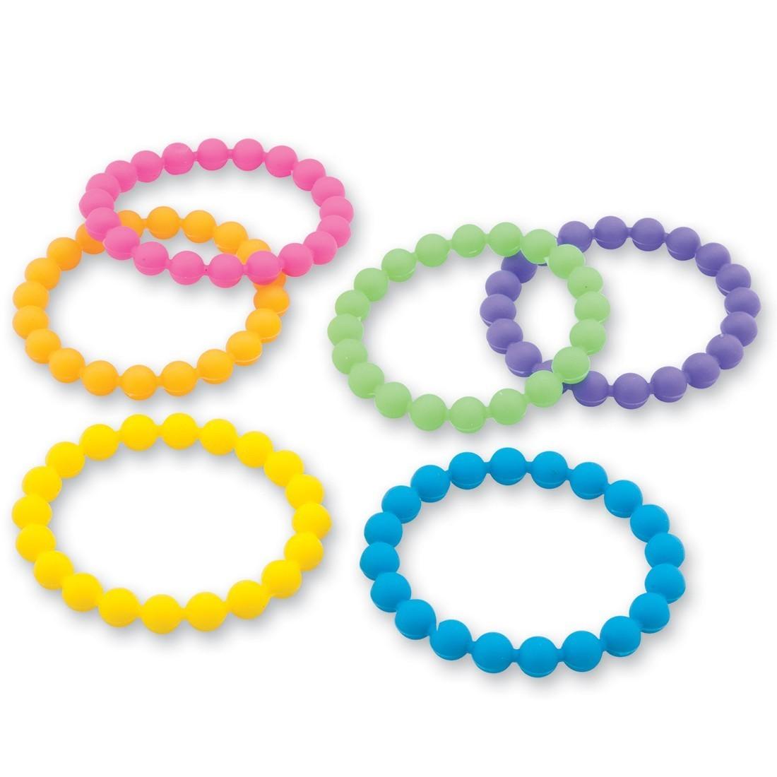 Neon Rubber Bead Bracelets [image]