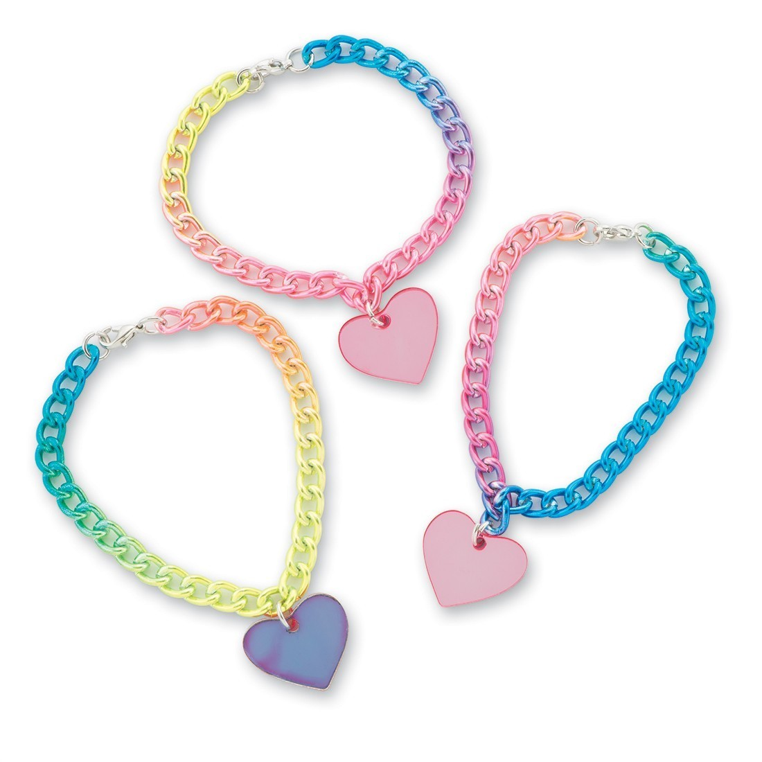 Rainbow Heart Charm Bracelet [image]