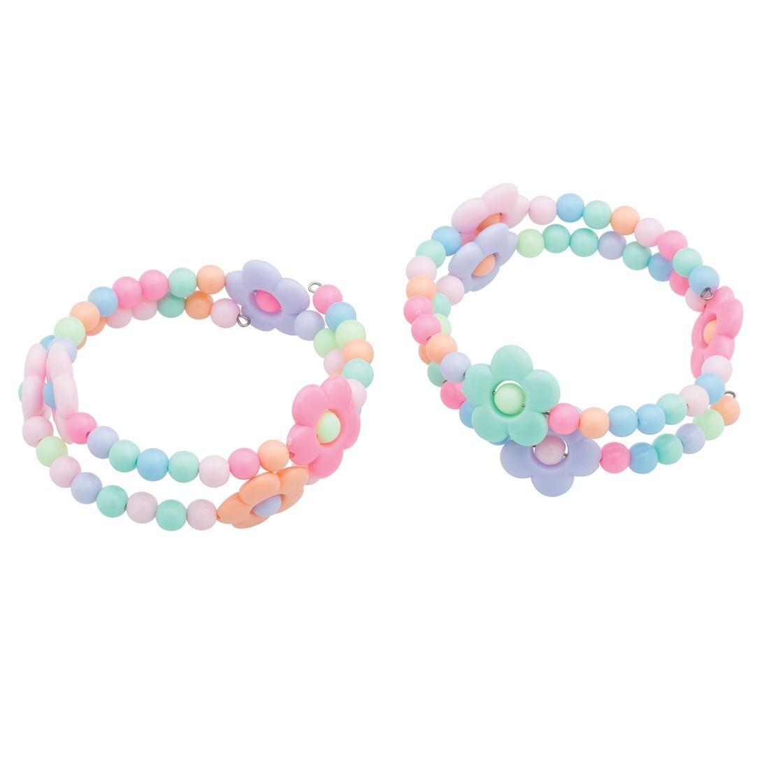Flower Bead Coil Bracelets [image]