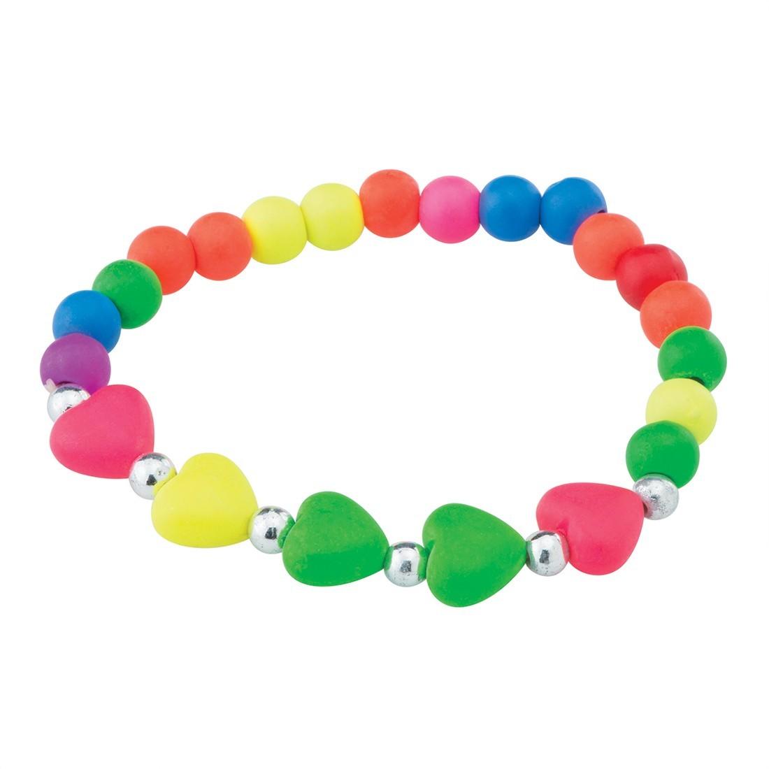 Stretchy Heart Bead Bracelets  [image]