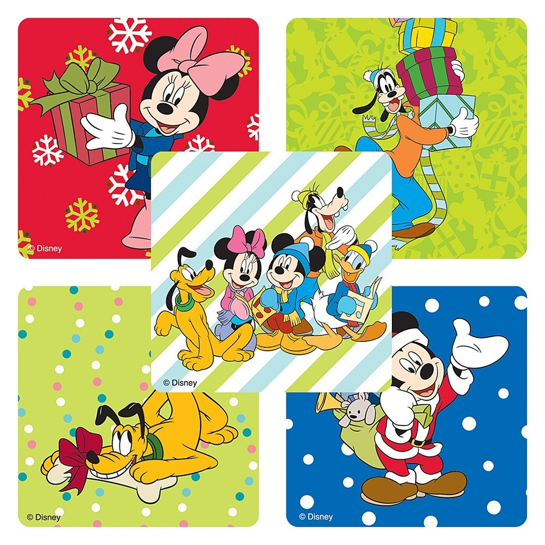 Mickey Mouse and Friends Christmas Stickers        [image]