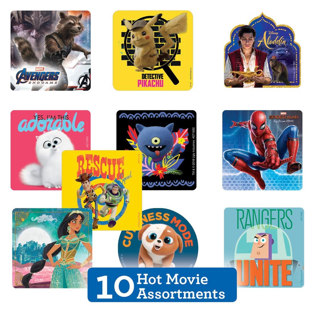 Hot Summer Movie Sticker Sampler  [image]