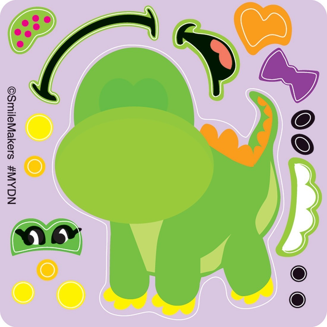Make-Your-Own™ Dino Stickers                  [image]