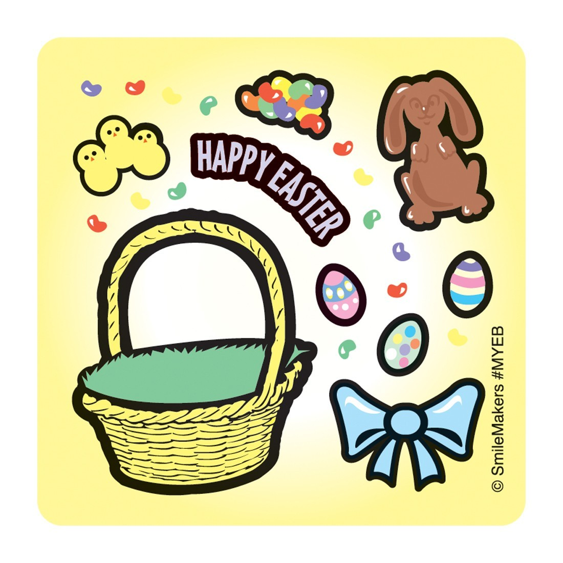 Make-Your-Own™ Easter Basket Stickers         [image]