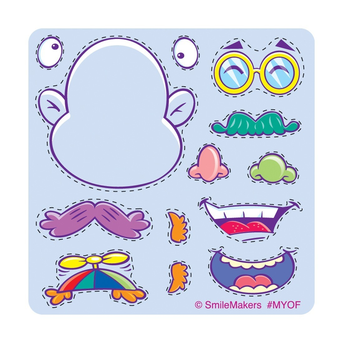 MakeYourOwn Funny Face Stickers MakeYourOwn Stickers From - Make your own decal sticker