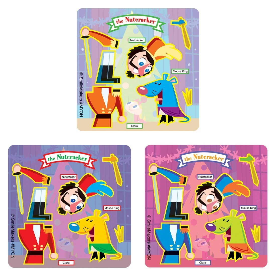 Make-Your-Own Nutcracker Stickers                  [image]