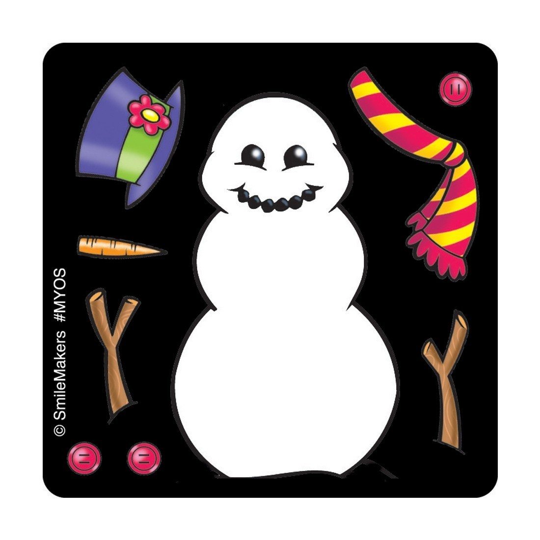 Make Your Own™ Snowman Stickers               [image]