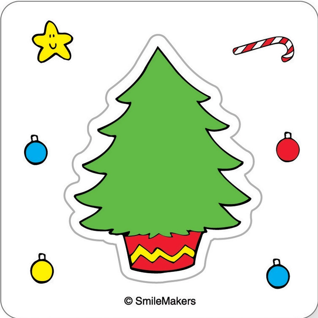 Make Your Own™ Christmas Tree Stickers        [image]