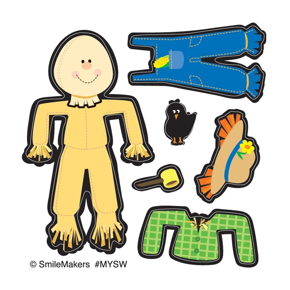 Make Your Own™ Scarecrow Stickers             [image]