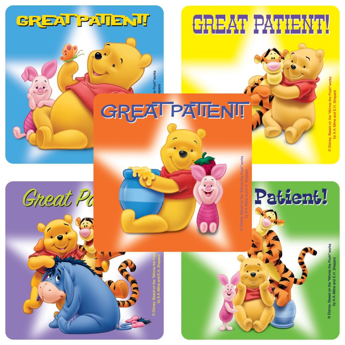 Winnie the Pooh Patient Stickers                   [image]