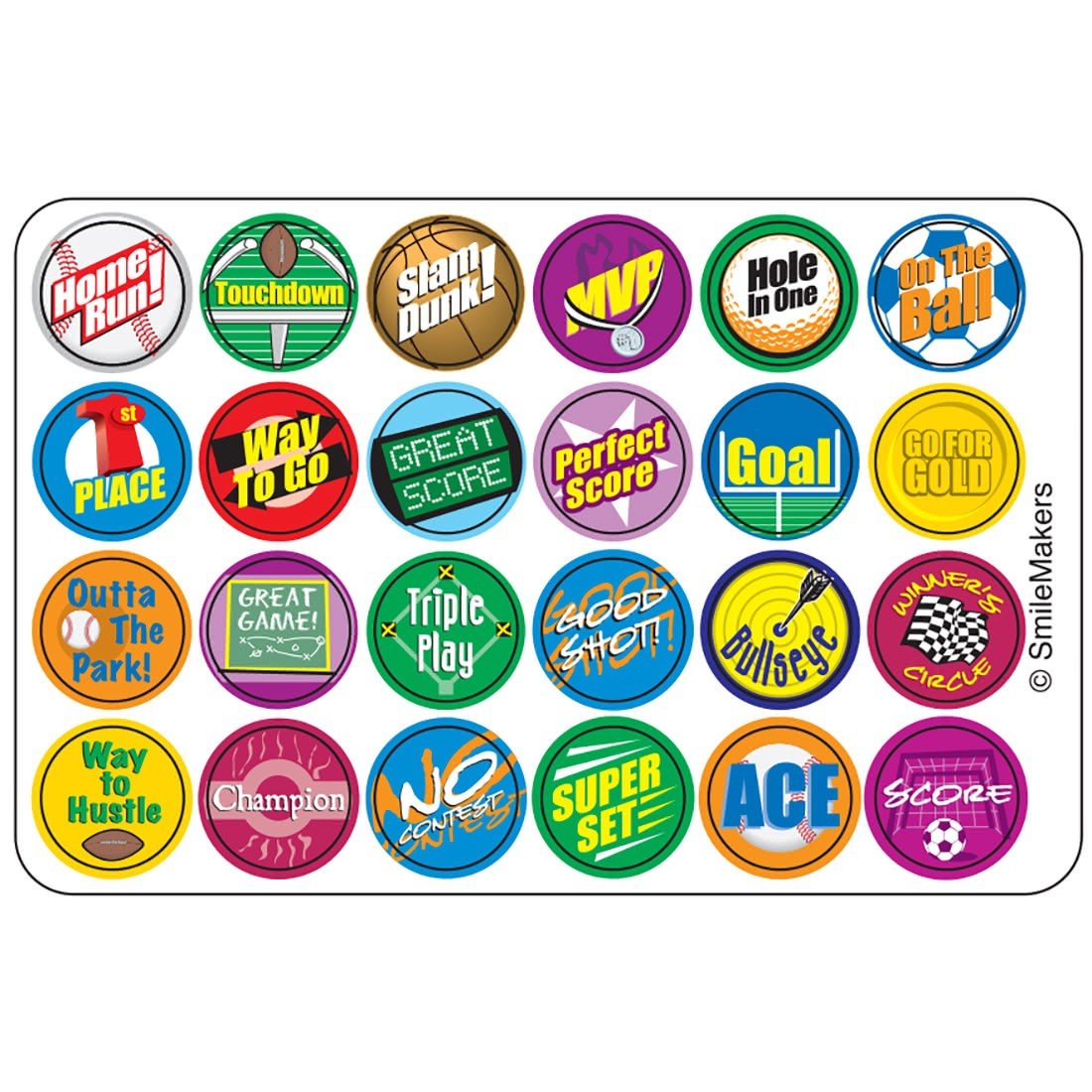 Sports Lots O Dots Stickers [image]