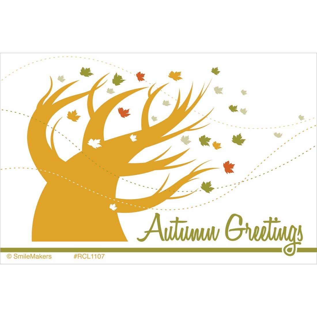 Autumn Greetings Recall Cards - Custom Recall Cards from SmileMakers