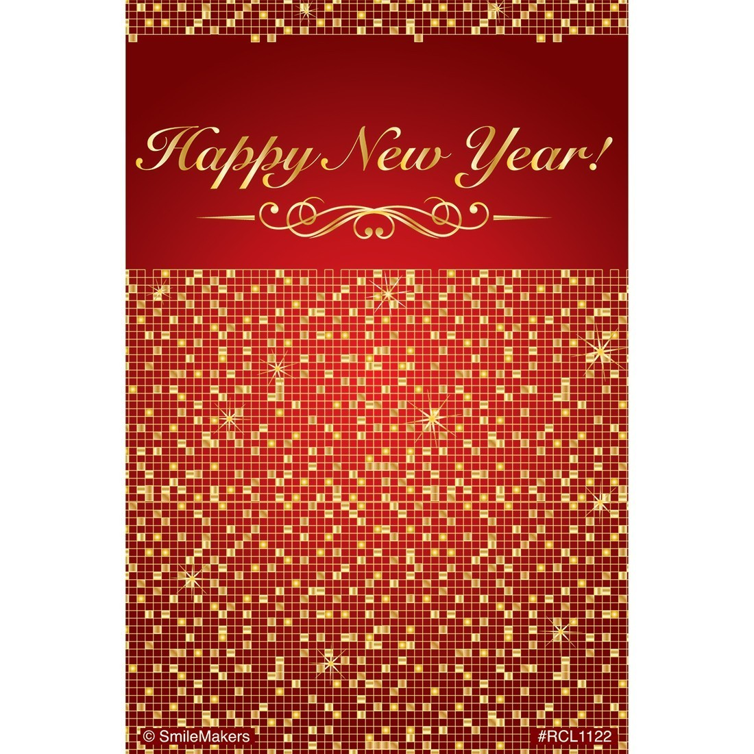 Happy New Year Sparkles Recall Cards [image]