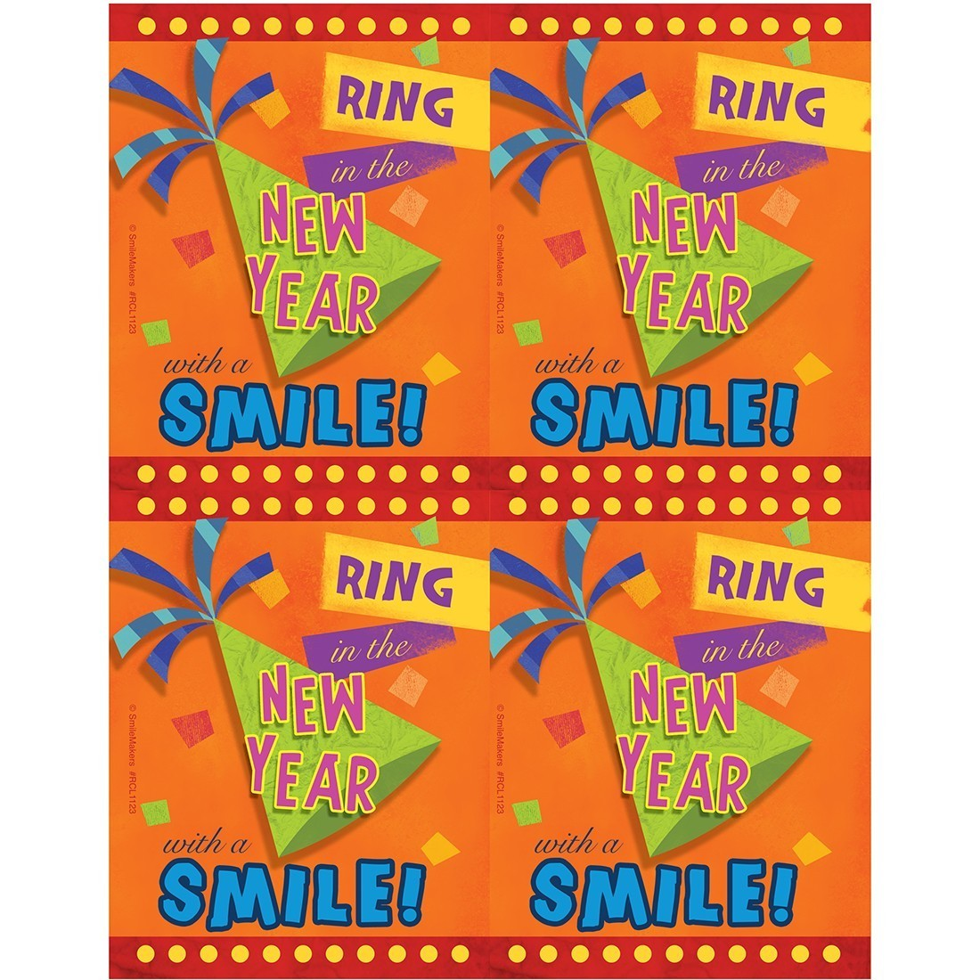 New Year Smile Laser Cards [image]