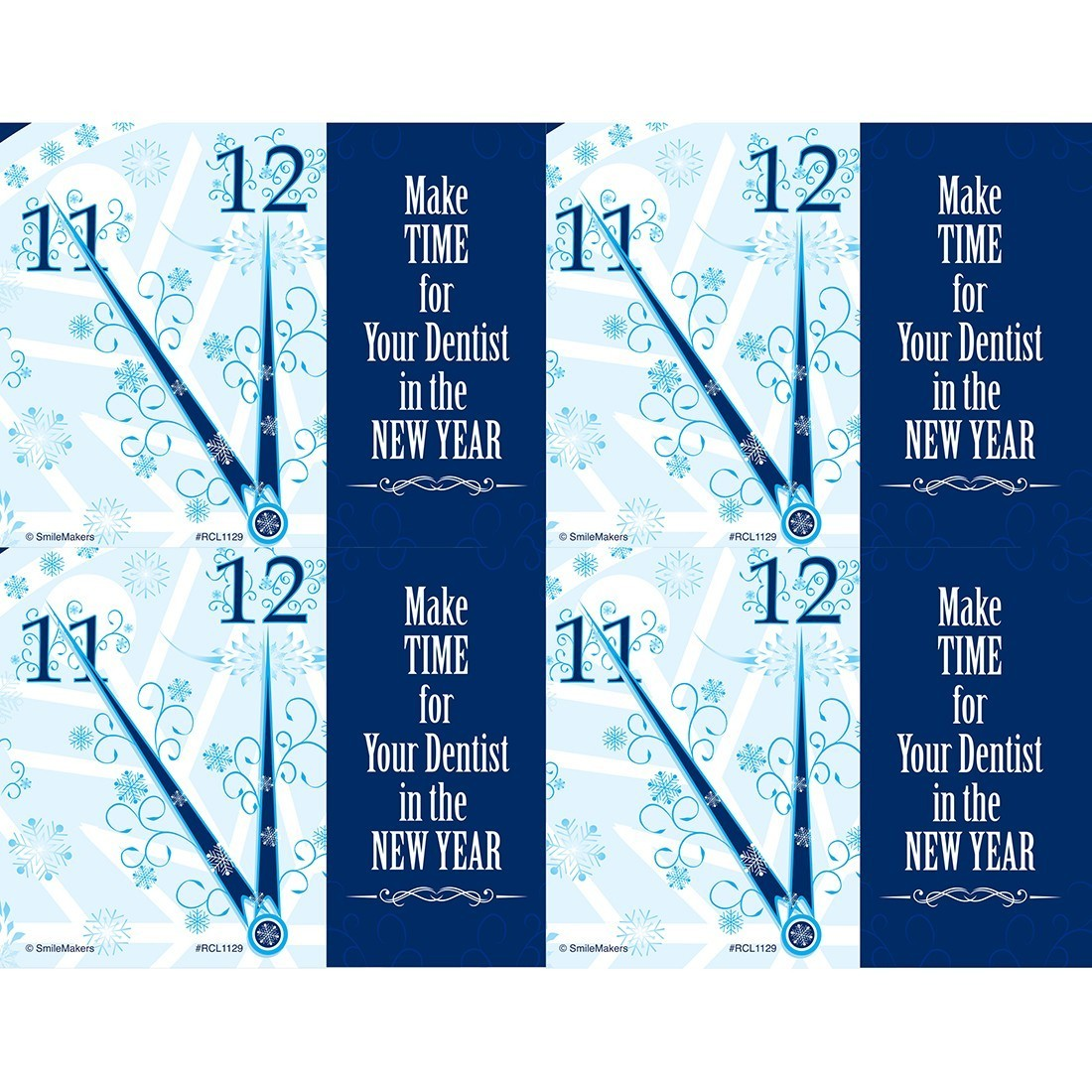 Make Time in New Year Laser Cards [image]