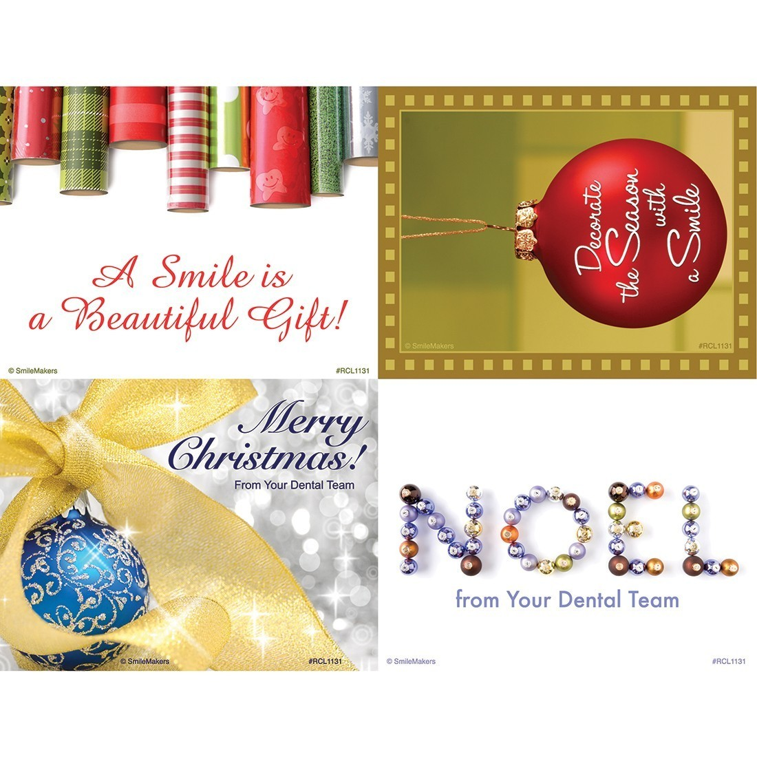 Assorted Christmas Laser Cards [image]